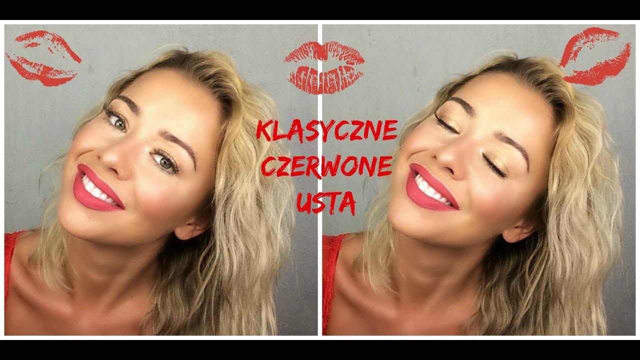 Czerwone Usta Klasyczny I Seksowny Makijaż Youtube