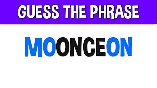 Guess the Phrase | Can you Guess the Phrase | IQ Education Riddle