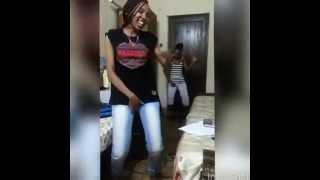 2 cute tanzanian girls doing Sankoro dance
