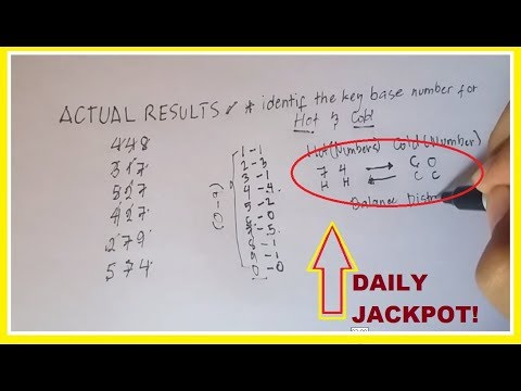 Pick 3 Lottery Hot and Cold Numbers Selection to win the Jackpot Daily - YouTube