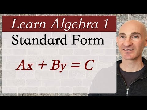 Standard Form Of The Equation Of A Line (Learn Algebra 1)