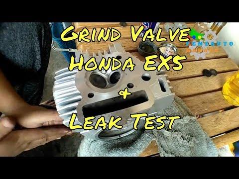 DIY Cara Grind Valve & Buat Valve Leak Test Honda EX5 / C100 / C70