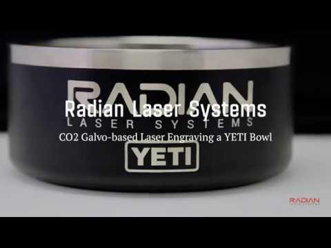Radian Laser Systems - CO2 Galvo Engraving YETI Dog Bowl