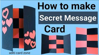 Secret message card | secret fold card | Friendship Day Card | Birthday gift card |