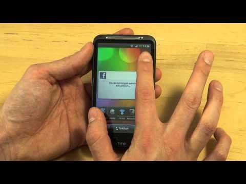 HTC Desire HD Test Bedienung