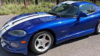 1996 Dodge Viper GTS Roe Supercharged walk around video