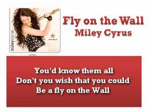 Fly on the Wall - Miley Cyrus - Instrumental / Karaoke with Lyrics on Screen