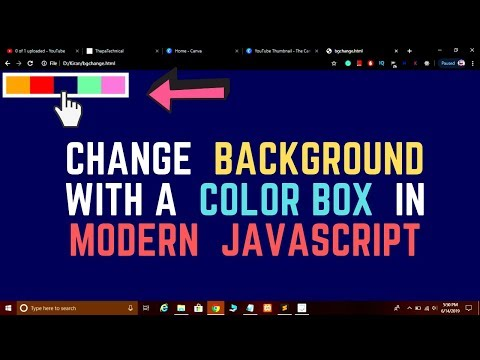 Coding Challenge #1: Change Body Background Color using Color Box in JavaScript thumbnail