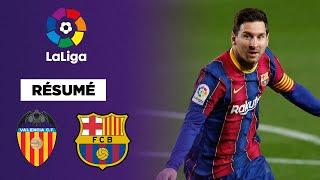 Résumé : Messi en feu, le FC Barcelone renverse Valence !