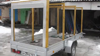 Строительство корпуса и установка роллет и окон на стандартный бортовой прицеп.(Прицеп изготовлен из комплектующих , такие как роллеты, гаражные окна и другие. Прицеп может быть использо..., 2015-03-10T15:54:08.000Z)