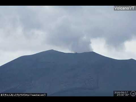17/9/2018 WITA - Mt Asama (浅間山, Asama-yama) TimeLapse