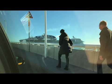 Back to Ship in Barcelona Across the Bridge MSC Meraviglia