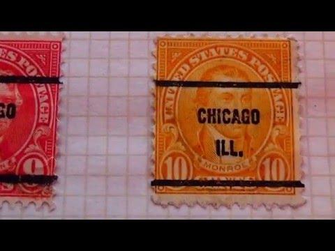 All Vintage Chicago Bureau U.S. Stamps