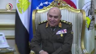 وزير الدفاع ورئيس الأركان يلتقيان قائد القيادة المركزية الأمريكية.. فيديو