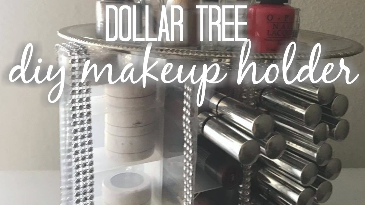 Dollar Tree Diy Spinning Makeup Organizer Diy Home Decor Youtube