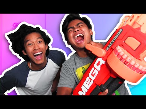 TRY NOT TO LAUGH + MACHINE GUN CHALLENGE!
