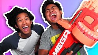 TRY NOT TO LAUGH + MACHINE GUN CHALLENGE!