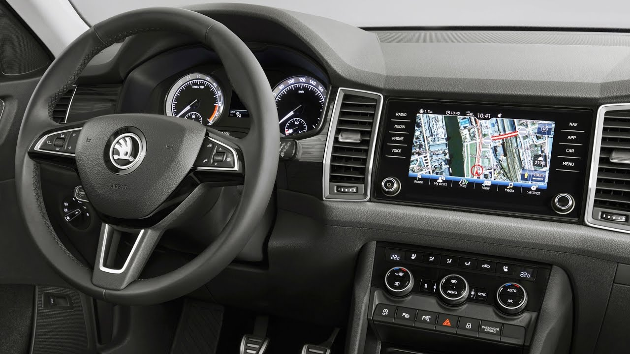 2017 skoda kodiaq interior youtube. Black Bedroom Furniture Sets. Home Design Ideas