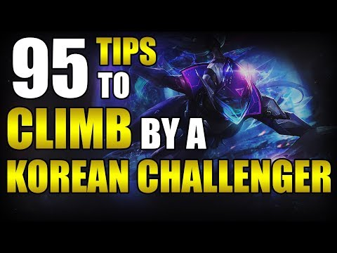 95 Different Tips to Climb by a Korean Challenger - League of Legends thumbnail