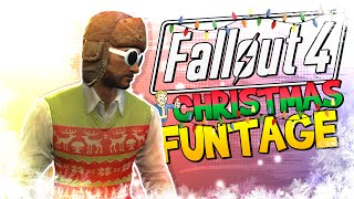 fallout 4 funtage christmas edition fo4 funny moments