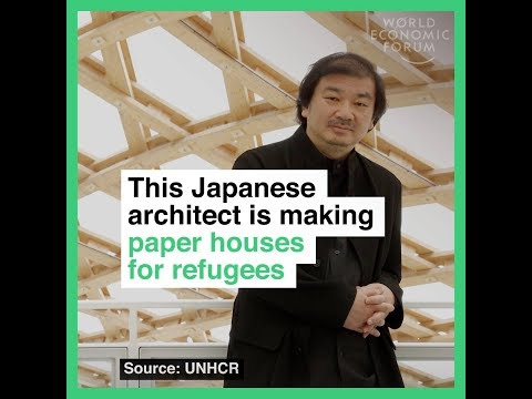 This Japanese architect is making paper houses for refugees