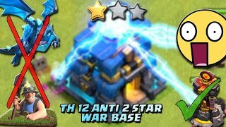 TOWN HALL 12 DEFENSE BASE | ANTI EVERYTHING | ANTI 2 STAR WAR BASE WITH 5 LIVE DEF REPLY