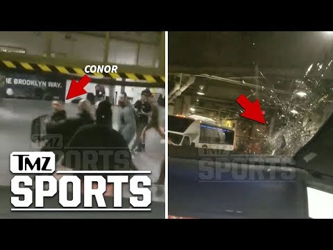 Conor McGregor & Entourage Injure UFC Fighter In Bus Attack, Insane Video | TMZ Sports