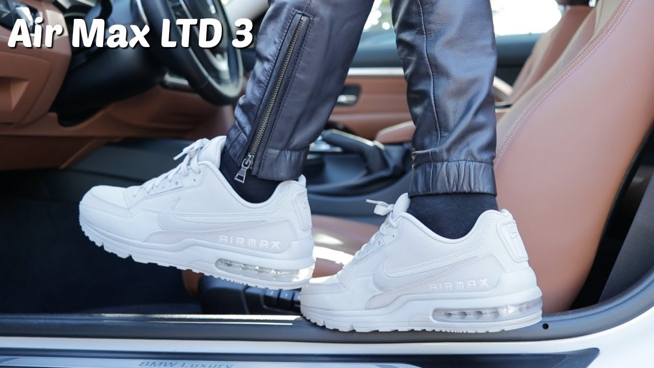 Wearing Leather Joggers With Sneakers(Air Max LTD 3)