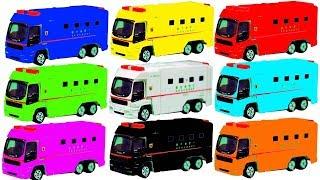 はたらくくるま アンパンマン救急車で色遊びをするよ♪ スーパーアンビュランス  おもちゃ アニメ 幼児 子供向け動画 Colors with Ambulance