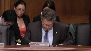 Senator Franken Chews Up Mark de Bernardo KBR Arbitration Lawyer