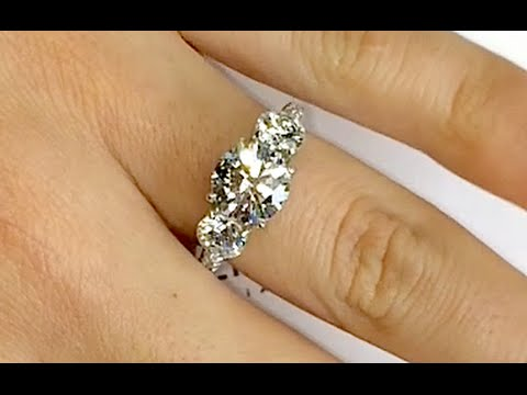 Round Diamond 3 Stone Engagement Ring Youtube