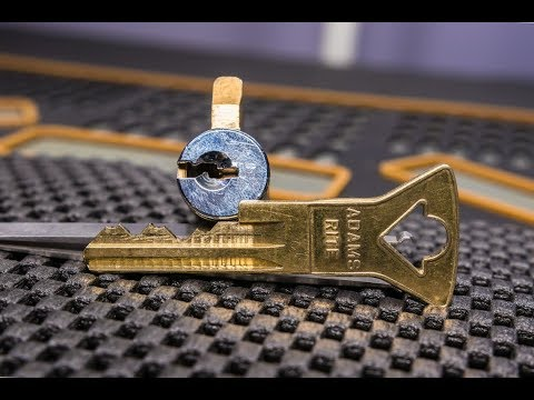 [217] Schlage Master Keyed KIK Cylinder With Adams Rite Key Picked and Gutted