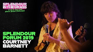 Courtney Barnett about the catharsis of songwriting | Splendour Forum 2019