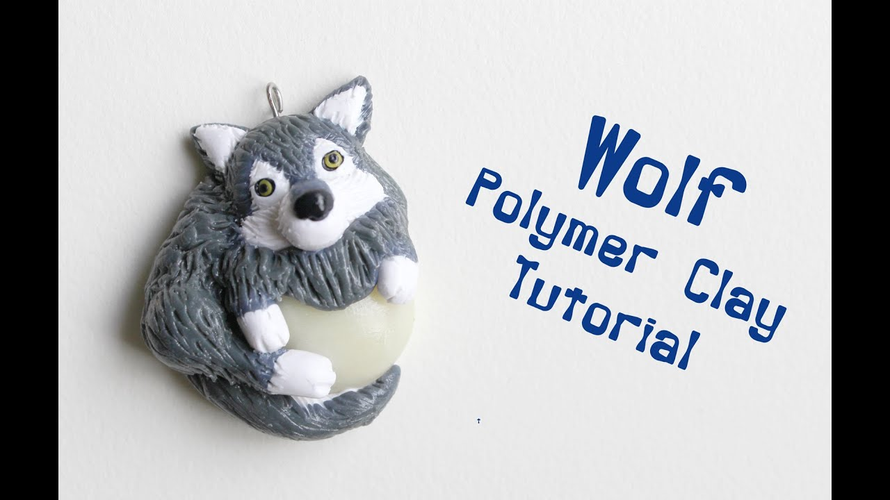 How To Make Wolf Polymer Clay Tutorial Youtube