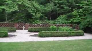 Formal gardens and mansion at the Bradley Estate - Canton, MA