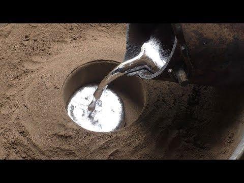 Простейшая формовочная смесь для литья алюминия. Molding Mixture For Casting Aluminum