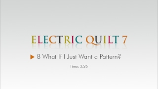08 What if I Just Want a Pattern? – EQ7 Help