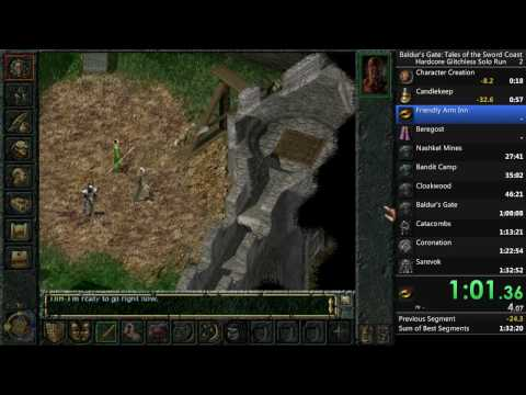 Baldur's Gate (Original) Hardcore No Reload Glitchless Solo Run in 43 minutes and 49 seconds