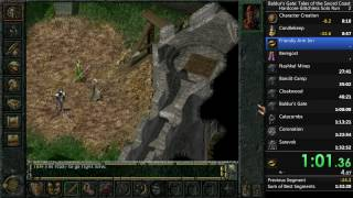 Baldur's Gate (Original) Hardcore No Reload Glitchless Solo Run in 43 minutes and 49 seconds