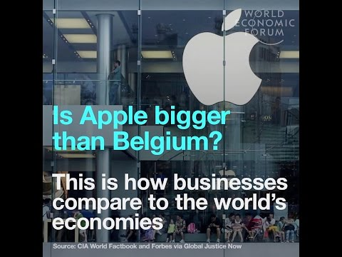 Is Apple bigger than Belgium? - This is how businesses compare to the world's economies