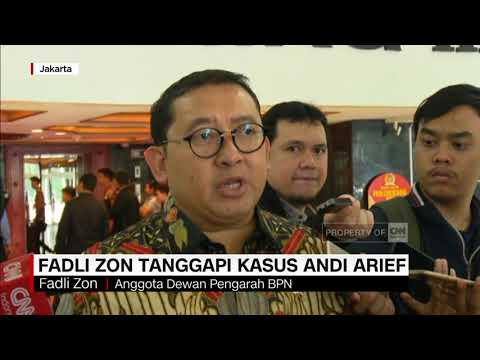 Tanggapan Fadli Zon Terkait Kasus Narkoba Andi Arief