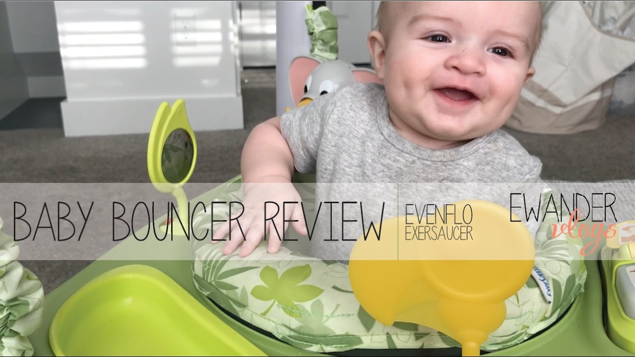 3f08f1875305 BABY BOUNCER REVIEW - Evenflo Exersaucer - YouTube