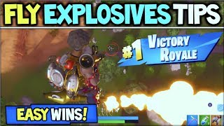 Fortnite *NEW* Fly Explosives CRAZY MOMENT + TIPS! How To Win & Get EASY WINS in Fortnite!