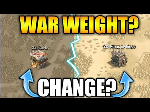 NEW WAR WEIGHT CHANGE IN CLASH OF CLANS