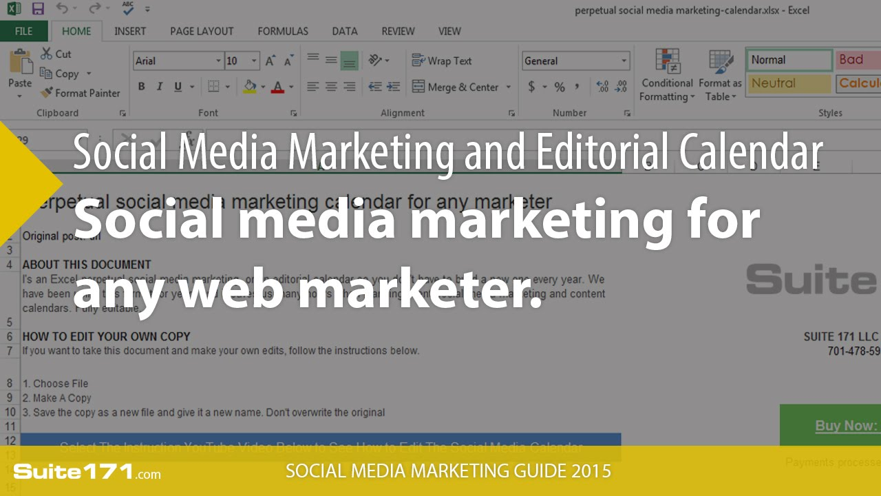 How to edit a social media editorial and marketing perpetual ...