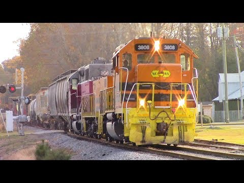 NCVA with an GP40/Yard Slug/GP38-2 Heads to Interchange with CSXT F774-22 Running bout 10mph