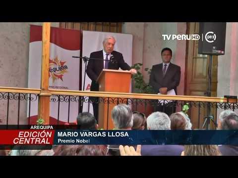 Mario Vargas Llosa propone cita de Real Academia de la Lengua en Arequipa