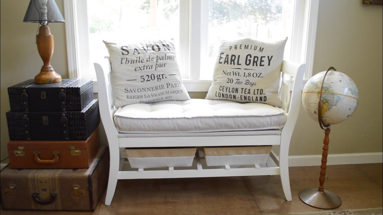 How To Make A DIY Salvaged Chair French Bench ...
