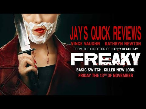 FREAKY (2020) – STARRING VINCE VAUGHN & KATHRYN NEWTON – REVIEW & TRAILER.