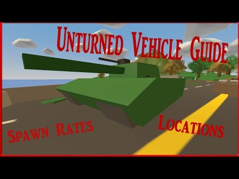 Unturned Vehicle Guide! (Spawn Rates and Locations) {Washington}